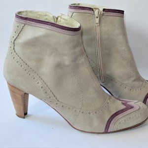 Italian Women's Leather Ancle Boots